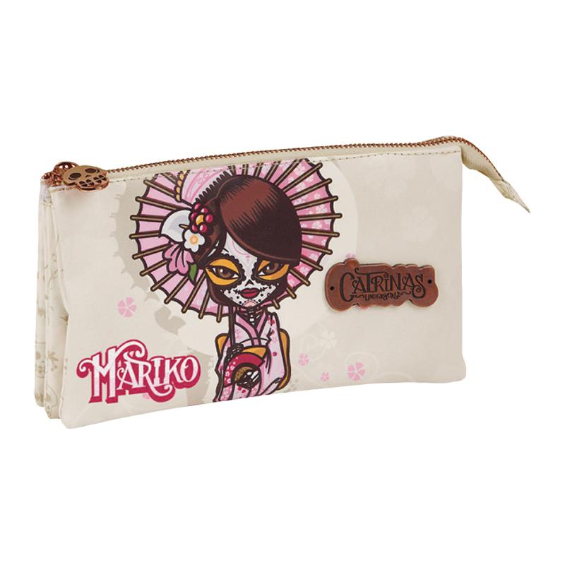 Mariko triple pencil case